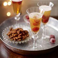 Raspberry Martini fizz