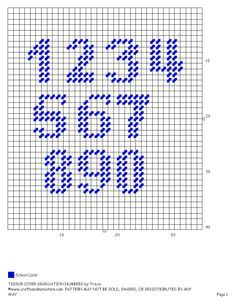 Plastic Canvas Alphabet and Numbers Patterns - Yahoo Image Search Results