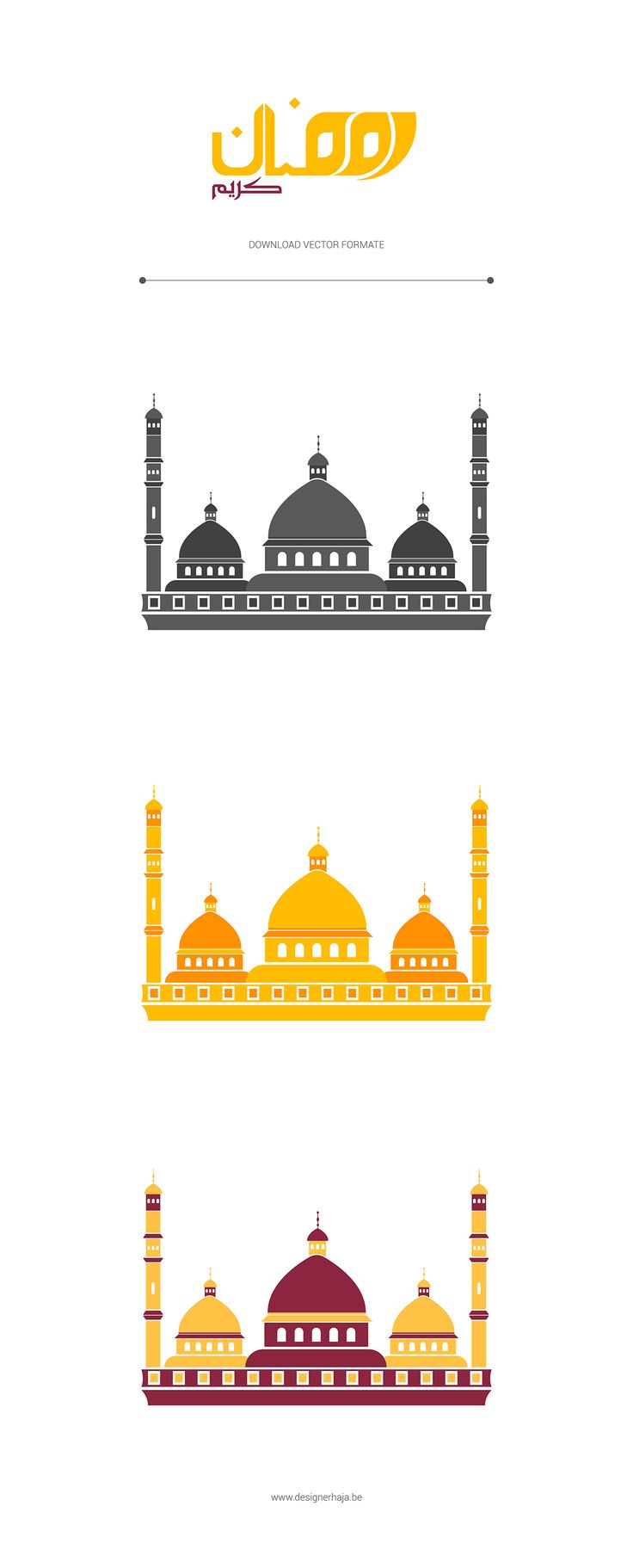 MOSQUE - VECTOR DESIGN - FREEBIE on Behance