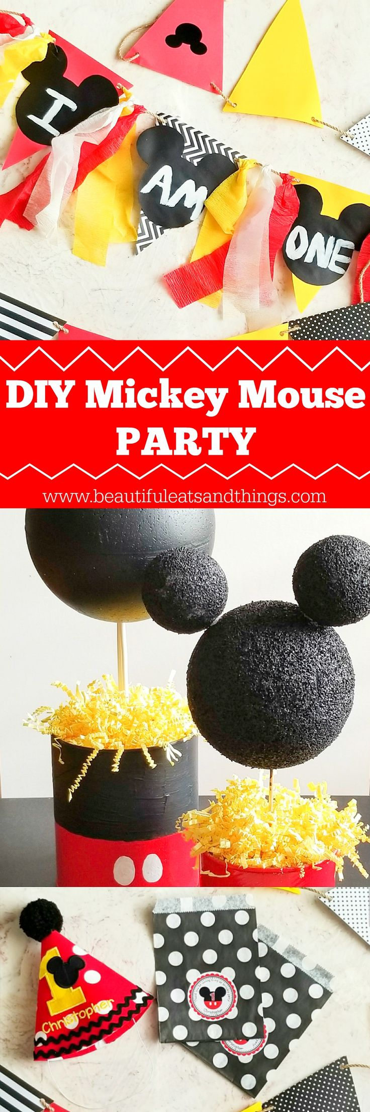 Cheap & easy DIY Mickey Mouse Party ideas! Save money and plan the ULTIMATE party with these ideas! mickey mouse | diy party ideas | cheap party ideas | first birthday party | mickey mouse clubhouse | smashcake