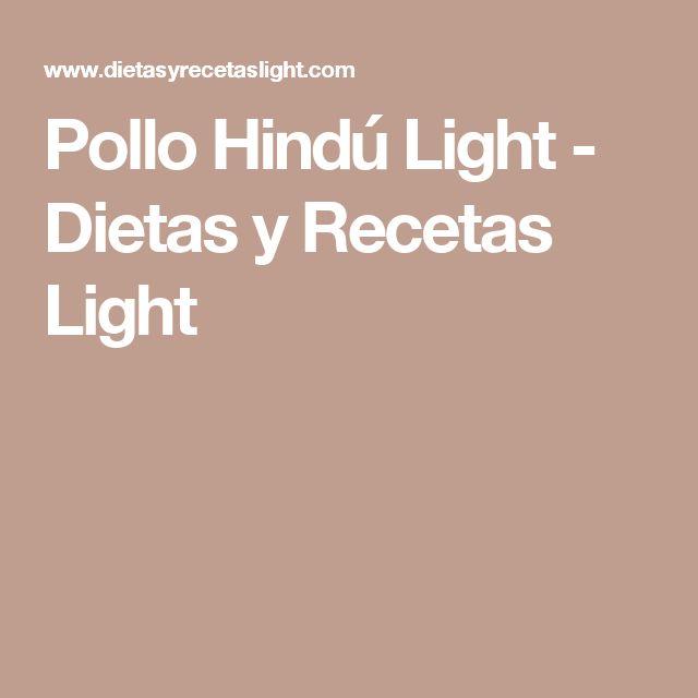 Pollo Hindú Light - Dietas y Recetas Light