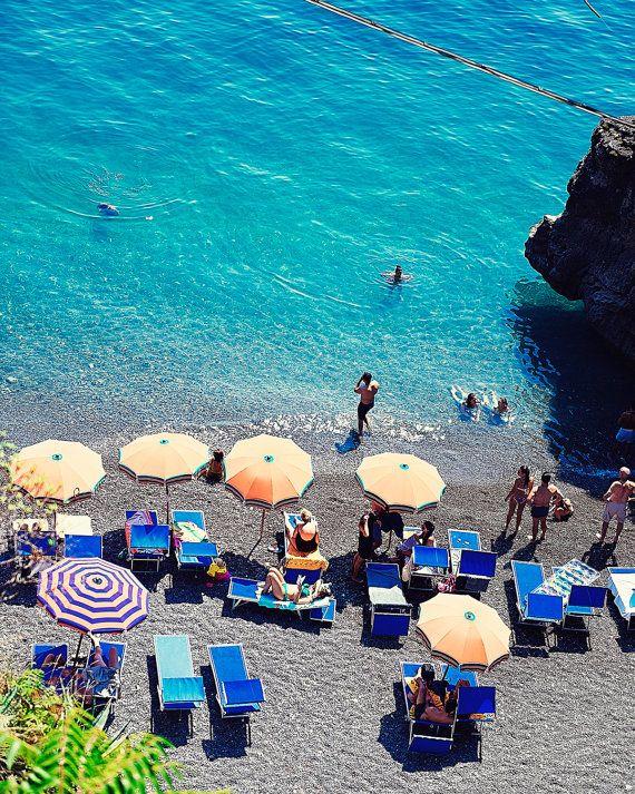 Aerial Beach Photography, Positano Beach Print, Aerial Beach Print, Italy Beach Photo, Summer in Positano, Beach Print, Beach Wall Art