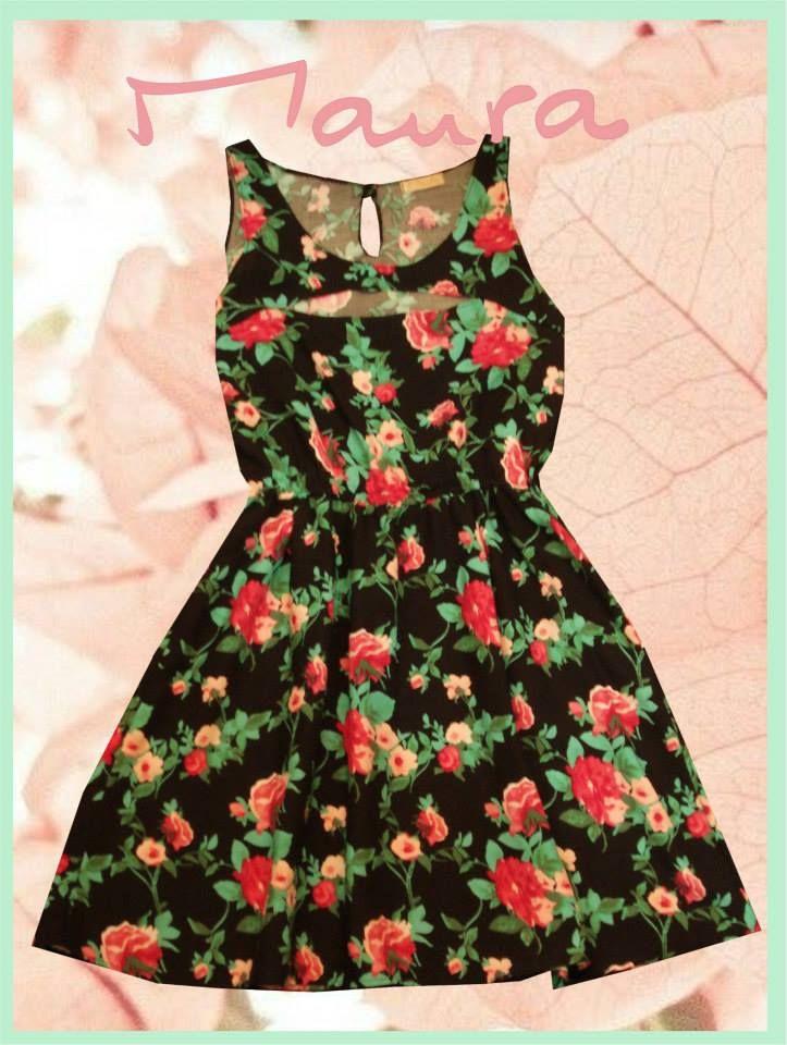 Vestido de fibrana estampada!!!!