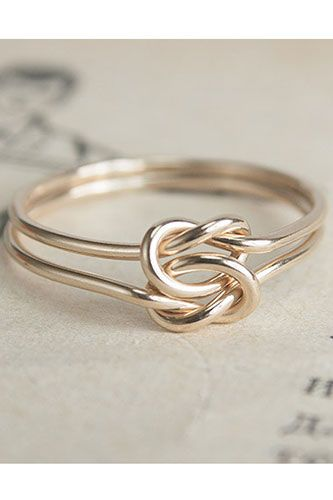 Lover's Knot Gold-Filled Wire Ring, $80 | 25 Stunning Engagement Rings That