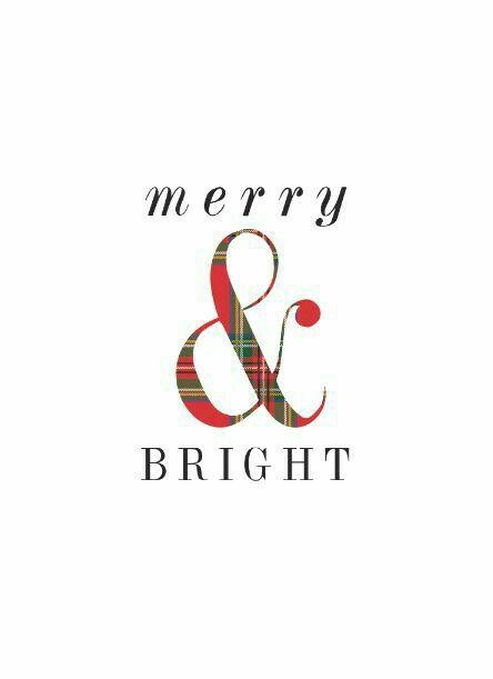 Tartan Plaid Christmas Merry & Bright