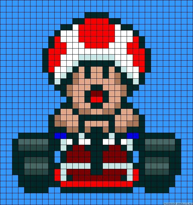 sandylandya@outlook.es Mario Kart Mushroom perler bead pattern
