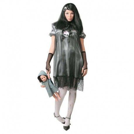 Disfraces Halloween mujer | Disfraz de niña endemoniada. Parecerás poseída por el diablo. Compuesto de vestido decorado con calavera y tules. Talla M. 16,95€ #niñaendemoniada #disfrazniñaendemoniada #disfraz #halloween #disfrazhalloween #disfraces