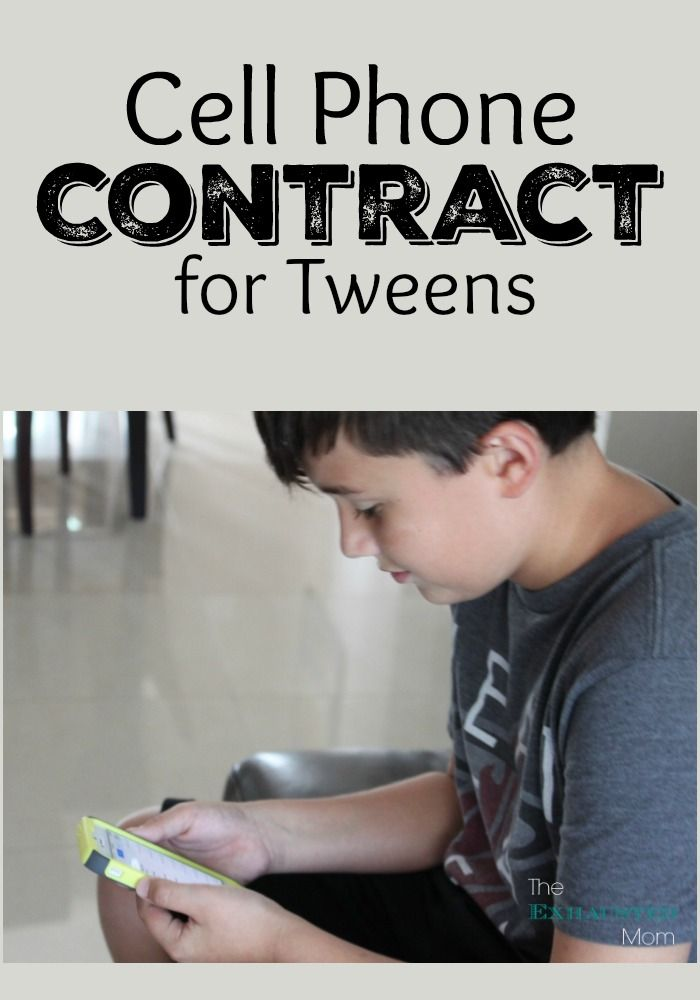 It is a graphic of Magic Printable Cell Phone Contract for Tweens