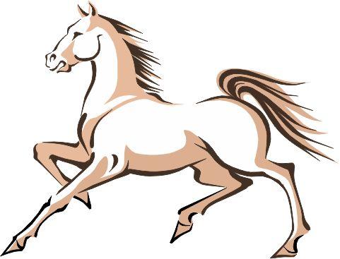 2014 Año chino del caballo - beig, imagen vectorial.