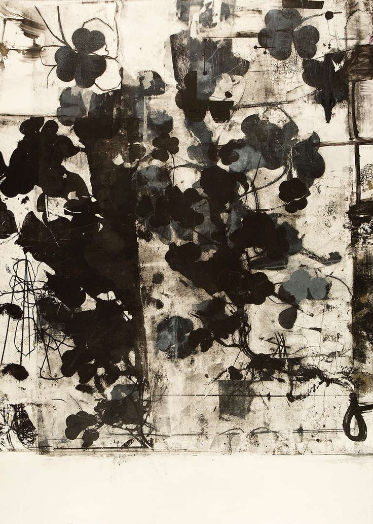 Clover 1 monotype by Roxanne Savage