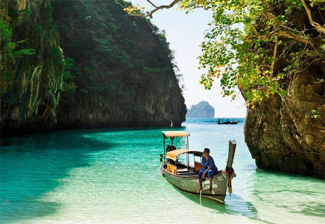 Loh Samah Bay @ ThailandFavorite Places, Loh Samah, Samah Bays, Travel Deals, Southeast Asia, Outdoor Bath, Boats Riding, First Places, Travel Destinations