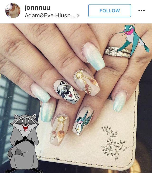 nails - cartoon character