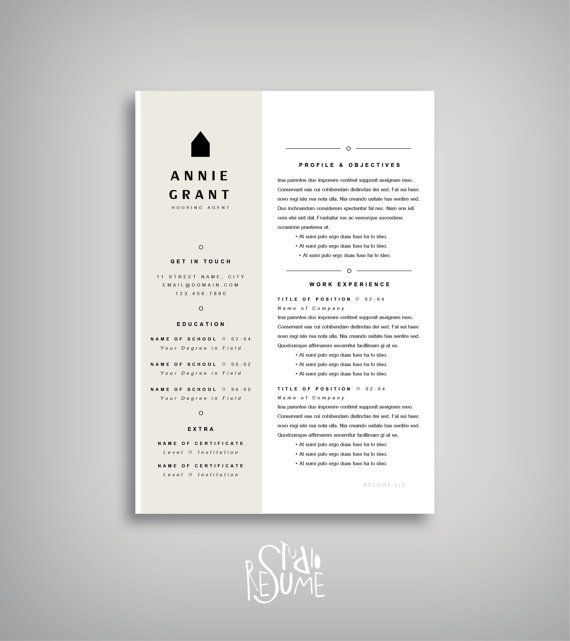 25 off resume template cover letter template instant download easy to edit - Template Cover Letter For Resume