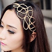 Hollow Braided Hair With Golden Hair Band – USD $ 2.39