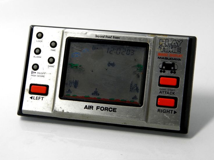 80s Retro Masudaya LCD Game Watch Play & Time Air Force MIJ Good Condition_79 | eBay