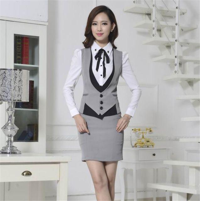 2014 Formal mujeres chaleco con pantalones elegante trajes de pantalones de la oficina para mujer trajes de negocios mujeres chaleco traje pantalón XXXL
