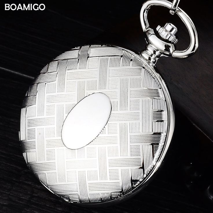 12.99$  Watch now - http://aliipc.shopchina.info/1/go.php?t=32788862235 - FOB men pocket watches antique mechanical watch BOAMIGO brand skeleton roman number watches silver chain gift clock reloj hombre  #aliexpress
