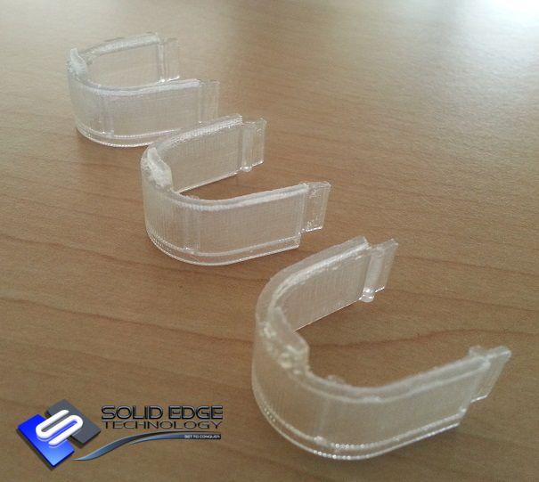 Three transparent lenses.