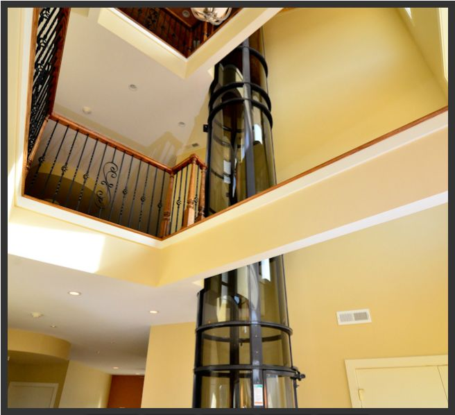 the pneumatic vacuum elevator from daytona elevators is another unique feature and runs through the stunning three story open foyer see the story here