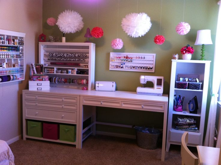 My Actual Craft Room At Home! Love The Martha Stewart Craft Furniture Line! Part 28