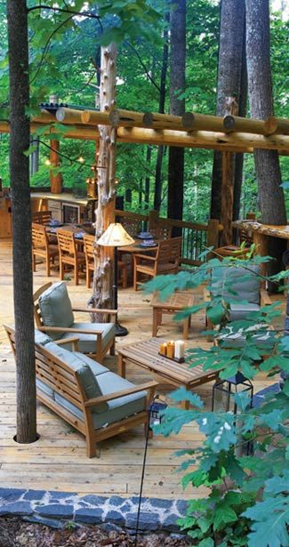 """This will be the deck off the back of my log """"cabin"""" in the mountains in BC"""