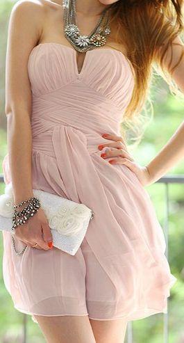 Pink dress - perfect bridesmaid dress