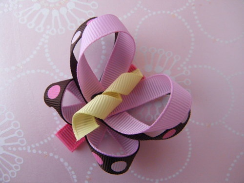 Classic Dots Butterfly Hair Clip