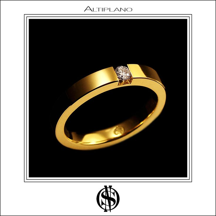 "#Anillo de compromiso ""Altiplano"" hecho en oro amarillo 18K y diamante / 18K yellow gold & diamond engagement #ring ""Atiplano"""