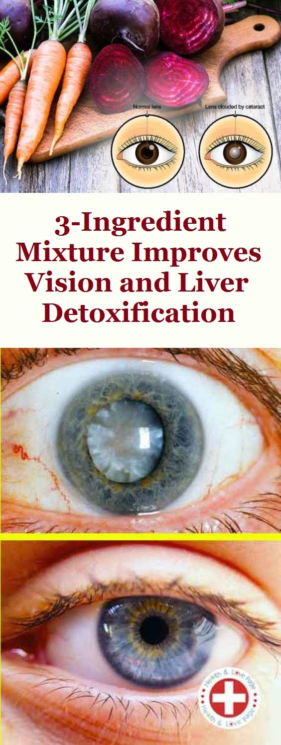 3-Ingredient Mixture Improves Vision and Liver Detoxification