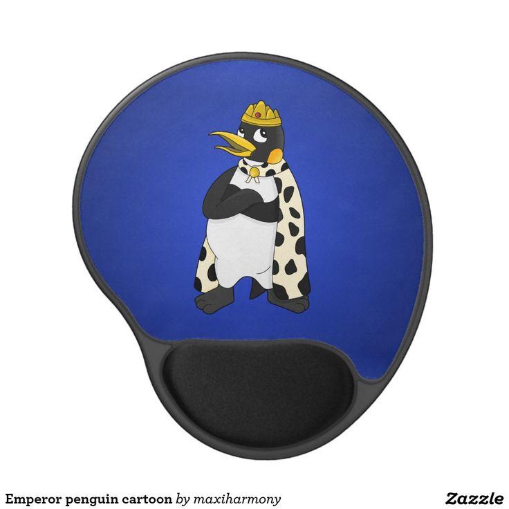 Emperor penguin cartoon gel mouse pad