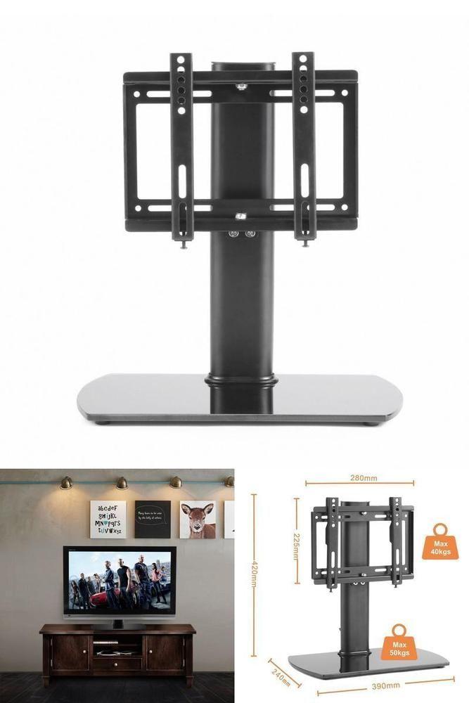 Tabletop Universal Tv Stand Riser Pedestal Swivel Mount Bracket Lcd Led 20 To 37