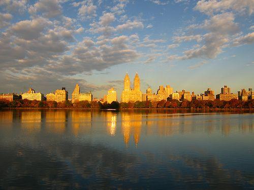 New York au lever du soleil.