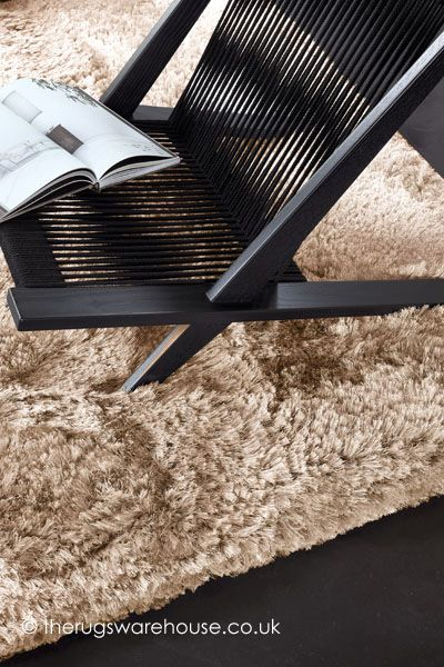 Adore Pure Brown Rug,  a super lush heavyweight hand-woven shaggy rug with a luxuriously deep pile that is sumptuously soft to the touchhttp://www.therugswarehouse.co.uk/brown-rugs/adore-pure-brown-rug.html #rugs #shaggyrugs #luxury