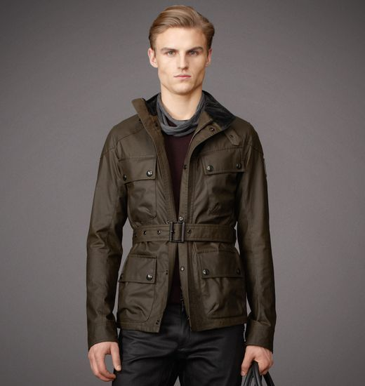 Belstaff Jackets Circuitmaster In Signature 8 Oz. Waxed Cotton Faded Olive Men Hy2zzgi