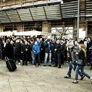 inter milan hooligans outside San Siro