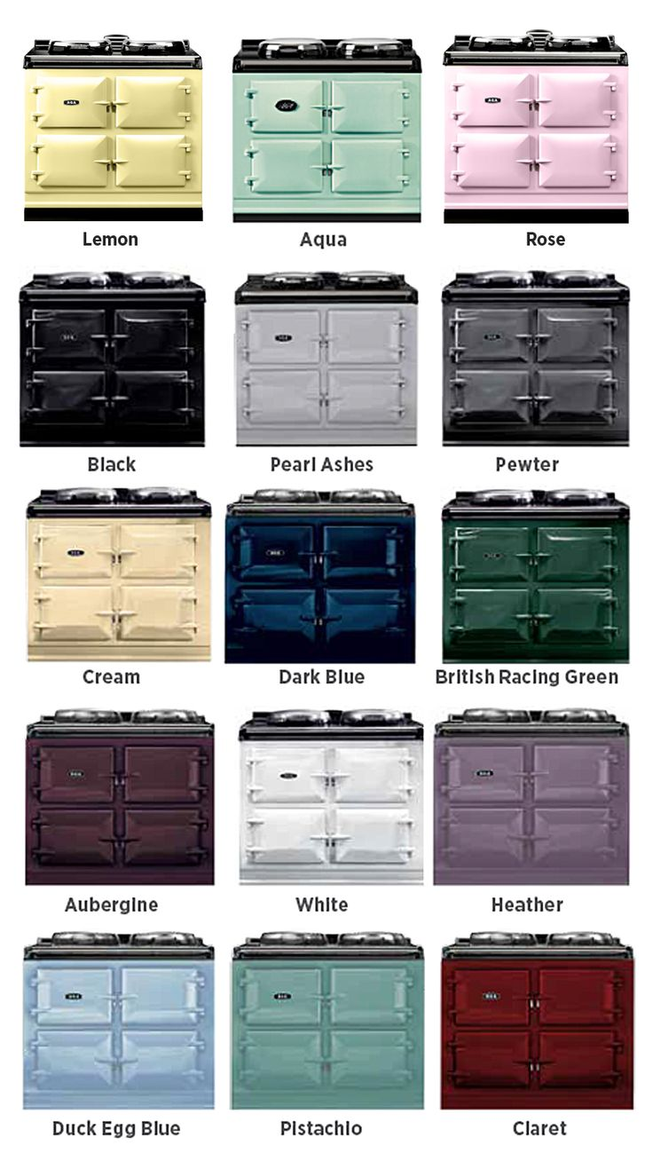 15 colors! Controlled using a touch-screen panel or remote control handset, the AGA Total Control 3-Oven range has a roasting, baking and simmer oven.