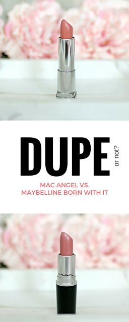Dupe? MAC Angel Vs. Maybelline Born With It