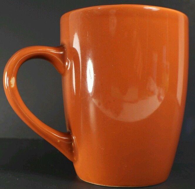 "Royal Norfolk Tangerine Orange 4"" x 3"" Coffee  Tea Mugs Cup"