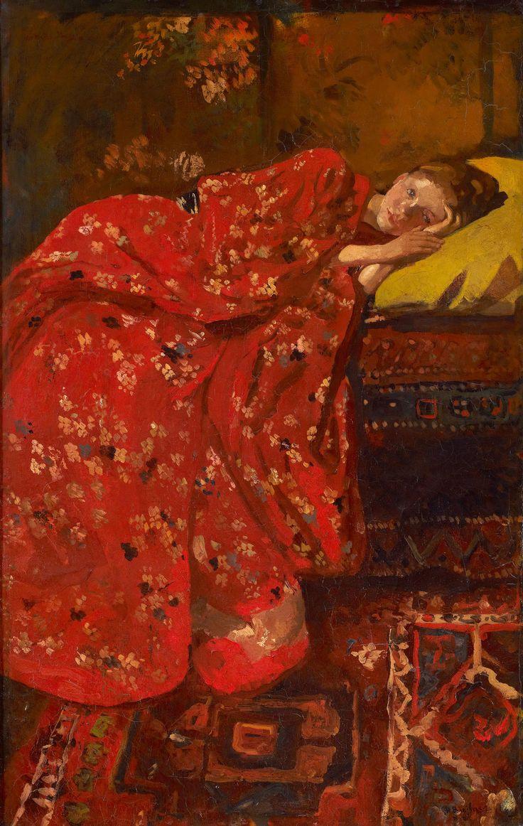 George Hendrik Breitner - Meisje in rode Kimono (Geesje Kwak)