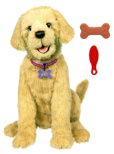 This ultra-realistic FurReal pup is the perfect first pet for any little girl or boy. Biscuit responds to you and obeys six different commands: sit lie down sit up beg and speak. He'll also give yo...