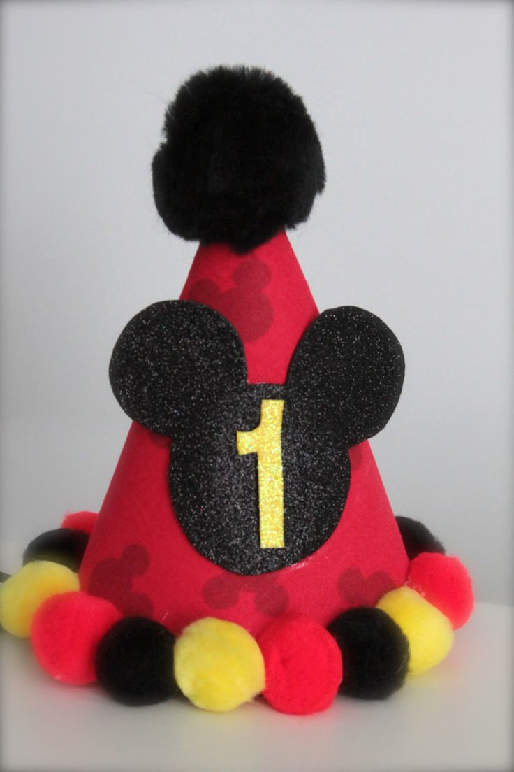 Boy or Girl Mickey Mouse Inspired (Red, Yellow and Black) - Custom Party Hat / Headband (pick you colors) by LilBirdsCouture on Etsy https://www.etsy.com/listing/120895218/boy-or-girl-mickey-mouse-inspired-red