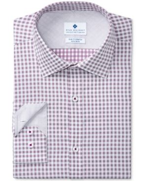 Ryan Seacrest Distinction Men's Slim-Fit Stretch Non-Iron Performance Check Dress Shirt, Created for Macy's -
