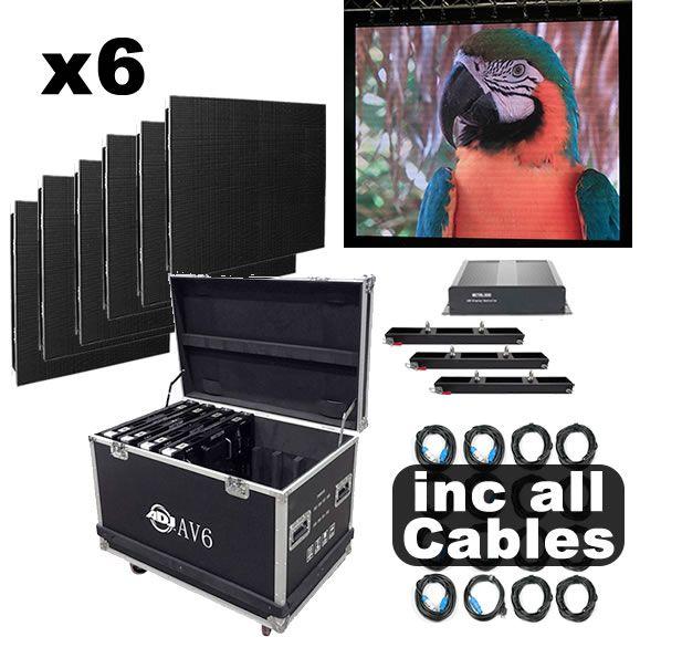 American DJ AV6 6 Panel Video DJ Set