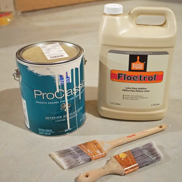 use Floetrol for woodwork and trim with no brush strokes showing