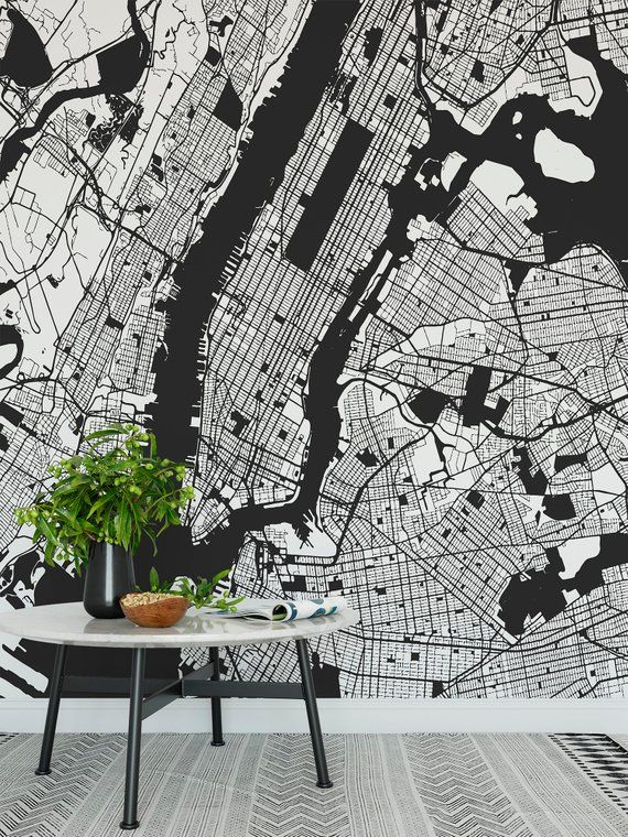 High Quality Peel And Stick Removable Self Adhesive Peel And Stick Wallpaper City Map Wall Mural Map Wall Mural Mural Wallpaper