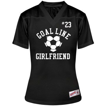 Cute Soccer Girlfriend | Wear your soccer girlfriend jersey to all your soccer playing boyfriend's games and practice this fall. You can put his name and number on the back if you want.