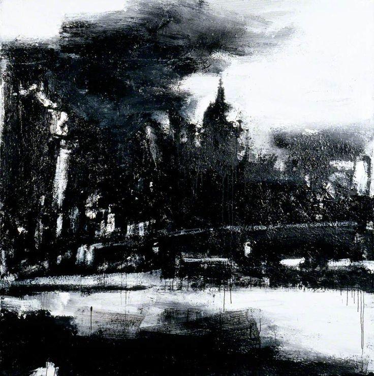 John Virtue, London (John Virtue paintings, plastic arts, fine arts,visual arts)