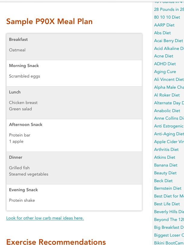 Sample p 90 x meal plan