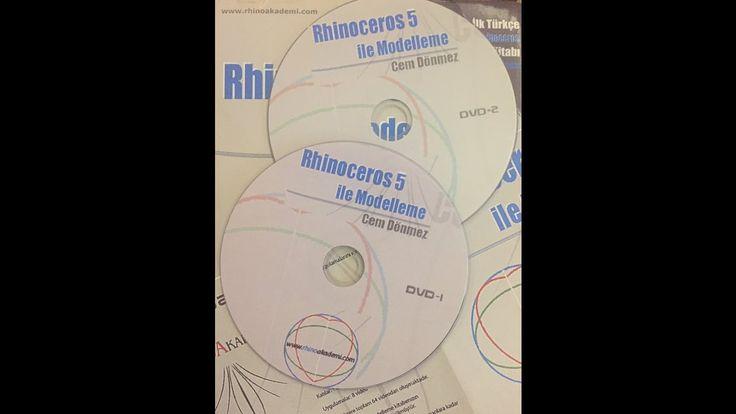 Rhinoceros 5 ile Modelleme-Eğitim Seti DVD 1
