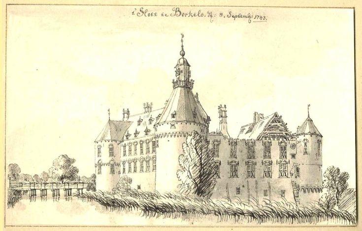 Jan de Beijer (1703-1780) - Kasteel Borculo in Borculo, 1743